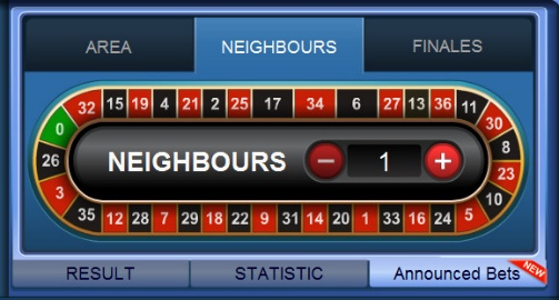 Roulette Neighbours Bet